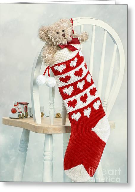 Eve Greeting Cards - Christmas Stocking Greeting Card by Amanda And Christopher Elwell