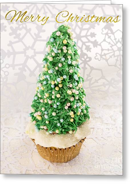 Owner Greeting Cards - Christmastree Cupcake Greeting Card by Iris Richardson