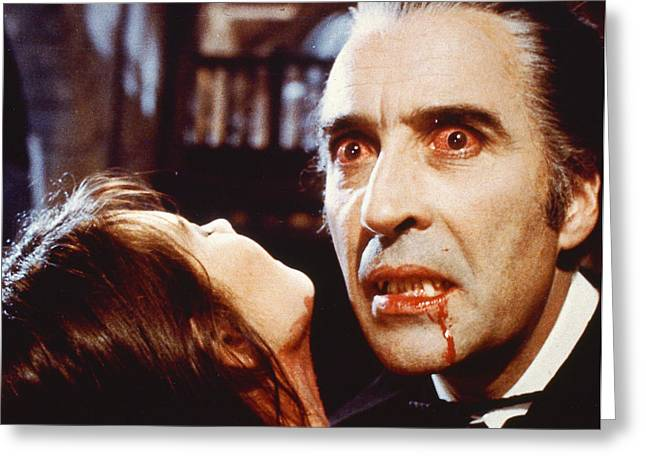Christopher Lee In Dracula A.d. 1972  Greeting Card by Silver Screen