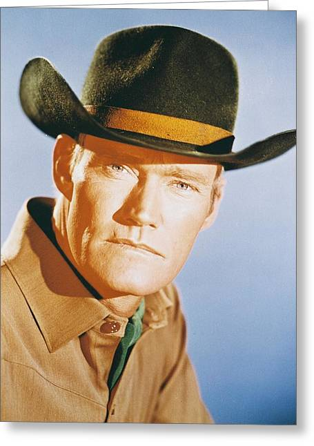 Connors Greeting Cards - Chuck Connors Greeting Card by Silver Screen