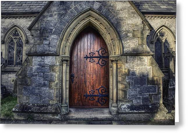 Medieval Entrance Greeting Cards - Welcome Please Come In Greeting Card by Ian Mitchell
