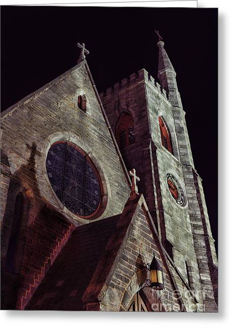 Gothic Dark Church Greeting Cards - Church Greeting Card by HD Connelly