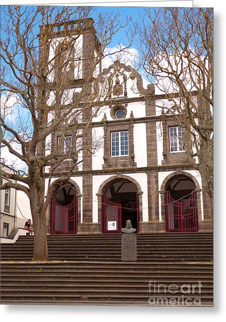 Graca Greeting Cards - Church in Azores islands Greeting Card by Gaspar Avila