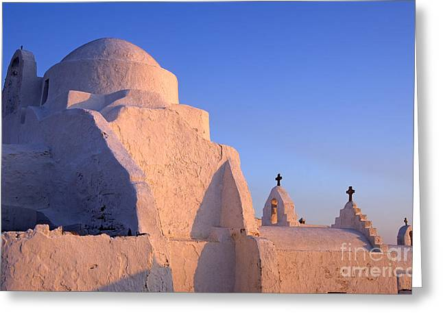 Cyclades Greeting Cards - Panagia Paraportiani church in Mykonos Greeting Card by George Atsametakis