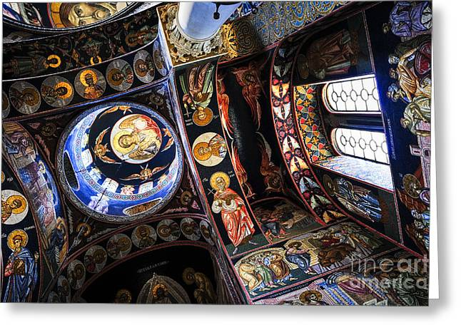Orthodox Greeting Cards - Church interior Greeting Card by Elena Elisseeva