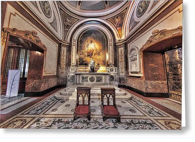 Saint Joseph Digital Greeting Cards - Church Interior Greeting Card by Guillermo Celano