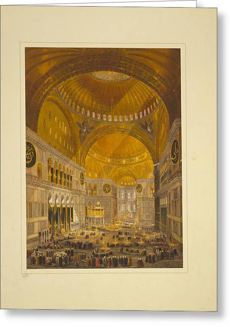 Church Of Hagia Sophia Greeting Card by Celestial Images