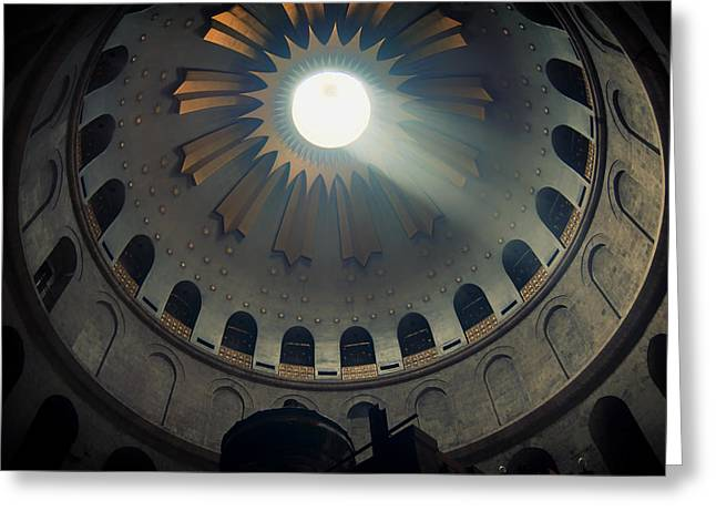 Sepulcher Greeting Cards - Church of the Holy Sepulcher - Jerusalem Greeting Card by Baristas Co