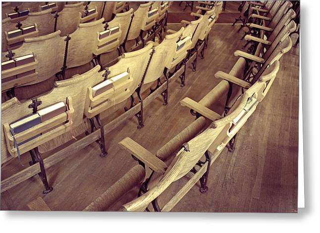 Photography As Art Greeting Cards - Church Pews Greeting Card by Steven  Michael