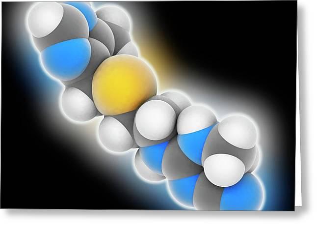 Cimetidine Drug Molecule Greeting Card by Laguna Design