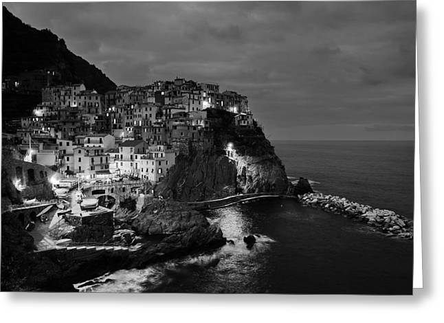 Italian Sunset Greeting Cards - Cinqueterre Sunset - Italy Greeting Card by Mountain Dreams