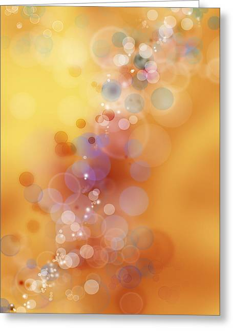 Circles Background Greeting Card by Les Cunliffe