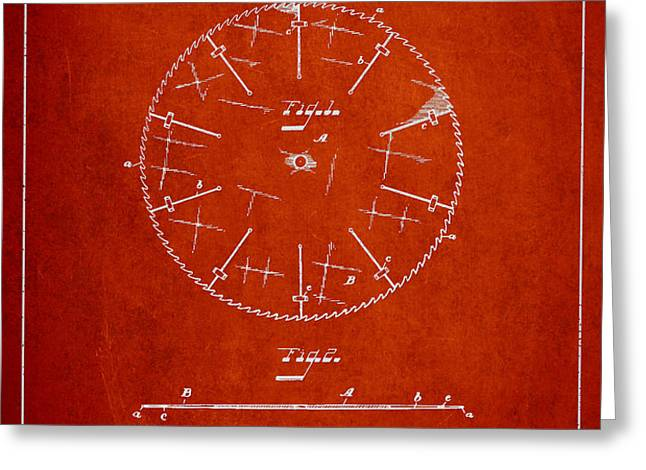 Circular Saw Patent Drawing from 1899 Greeting Card by Aged Pixel