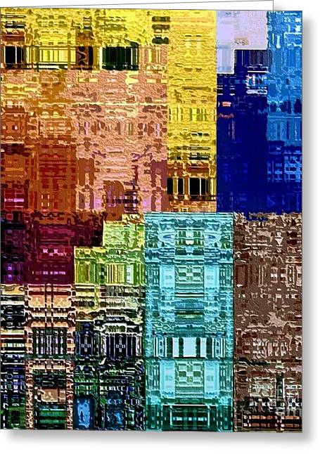 Deconstructed Greeting Cards - Citiscape Greeting Card by Dale   Ford