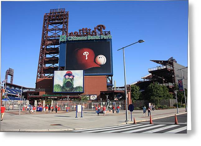 Phillies Framed Prints Greeting Cards - Citizens Bank Park - Philadelphia Phillies Greeting Card by Frank Romeo