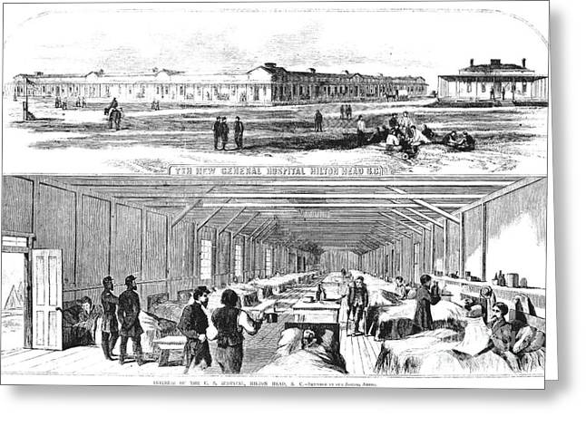 Civil War Hospital Greeting Card by Granger