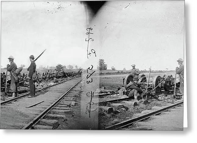Civil War Manassas, 1862 Greeting Card by Granger