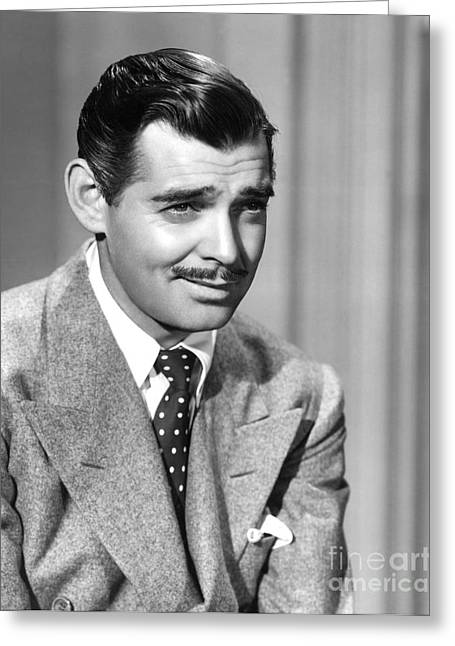 Hollywood Photographs Greeting Cards - Clark Gable Greeting Card by MMG Archives