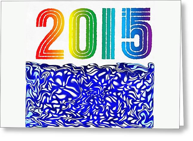 Print On Canvas Greeting Cards - 2015 Totes Greeting Card by Catherine Lott
