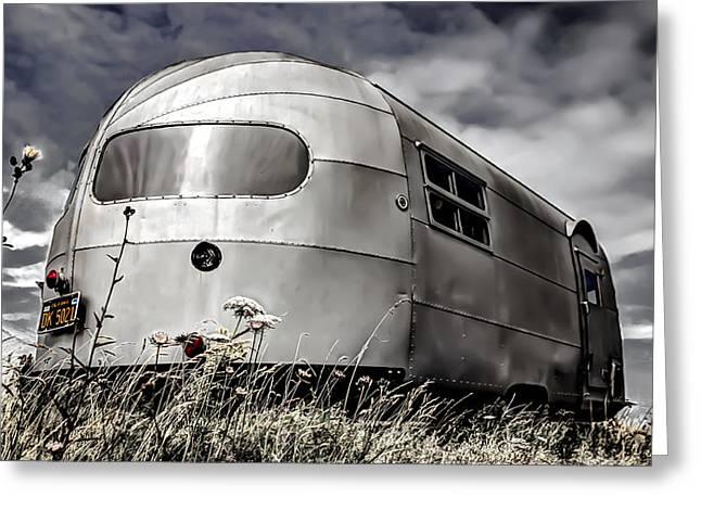 Classic Airstream caravan Greeting Card by Ian Hufton