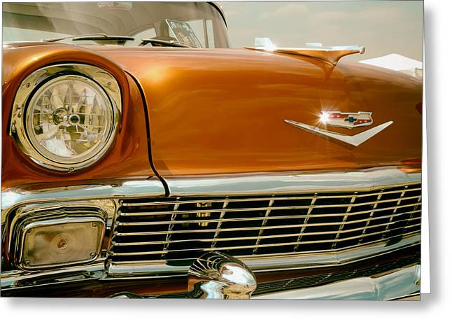 1950s Portraits Greeting Cards - Classic Chevy Greeting Card by Mountain Dreams