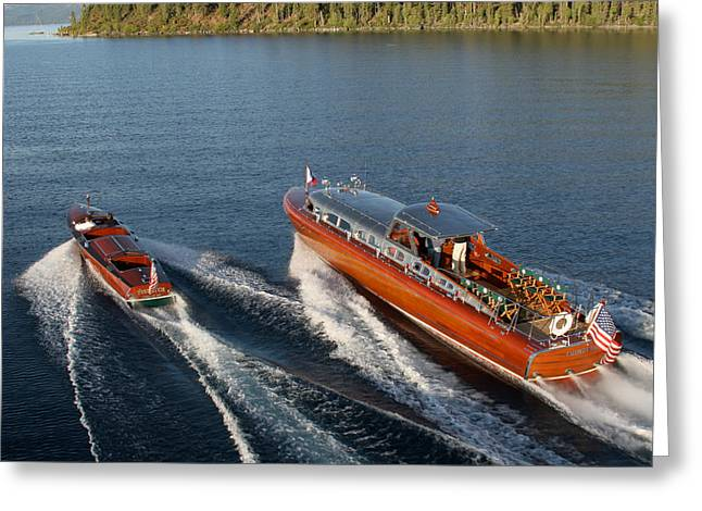Classic Runabouts Greeting Card by Steven Lapkin