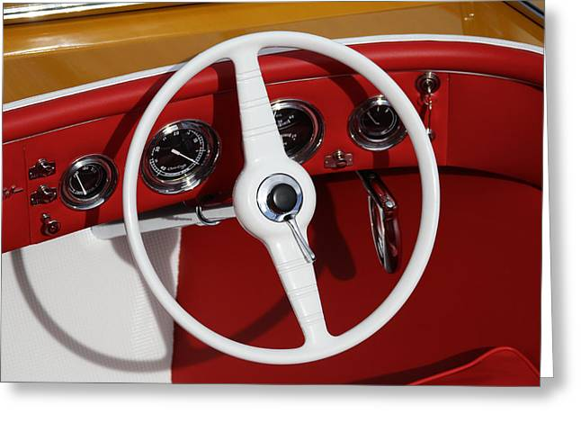 Classic Speedboats Greeting Card by Steven Lapkin