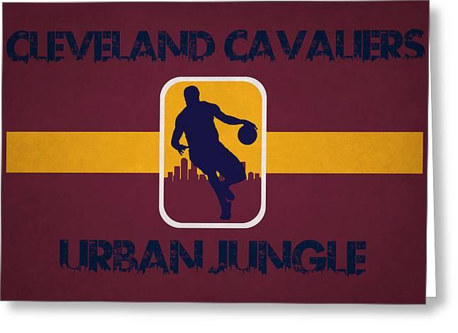 Urban Jungle Greeting Cards - Cleveland Cavaliers Greeting Card by Joe Hamilton