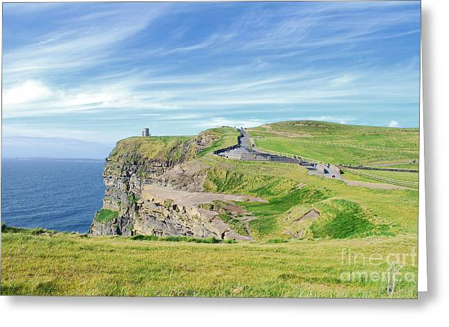 Rep Greeting Cards - Cliffs of Moher in Ireland Greeting Card by Birgit Tyrrell
