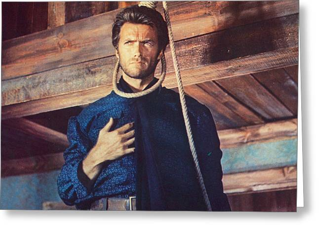 The Good The Bad Greeting Cards - Clint Eastwood in Il Buono, il brutto, il cattivo Greeting Card by Silver Screen