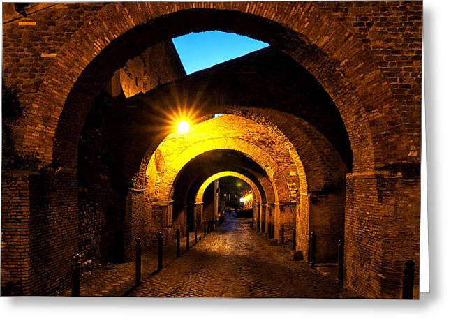 Roman Streets Greeting Cards - Clivo di Scauro Greeting Card by Fabrizio Troiani