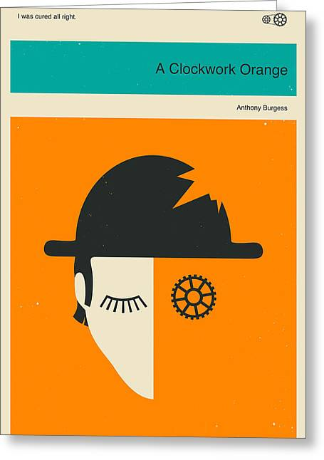Clockwork Greeting Cards - Clockwork Orange Greeting Card by Jazzberry Blue