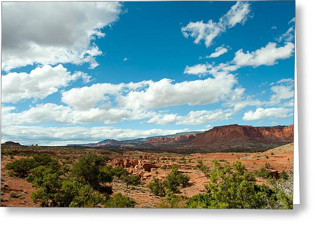 Arid Landscapes Greeting Cards - Clouds Over An Arid Landscape, Capitol Greeting Card by Panoramic Images