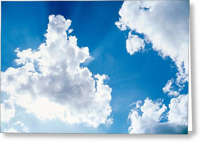 Backlit Greeting Cards - Cloudy Sky Greeting Card by Panoramic Images