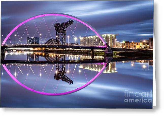 River Clyde Greeting Cards - Clyde Arc Greeting Card by John Farnan