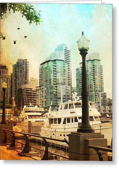 Decorate Greeting Cards - Coal Harbour Marina Vancouver British Columbia Greeting Card by Carol  Lux Photography