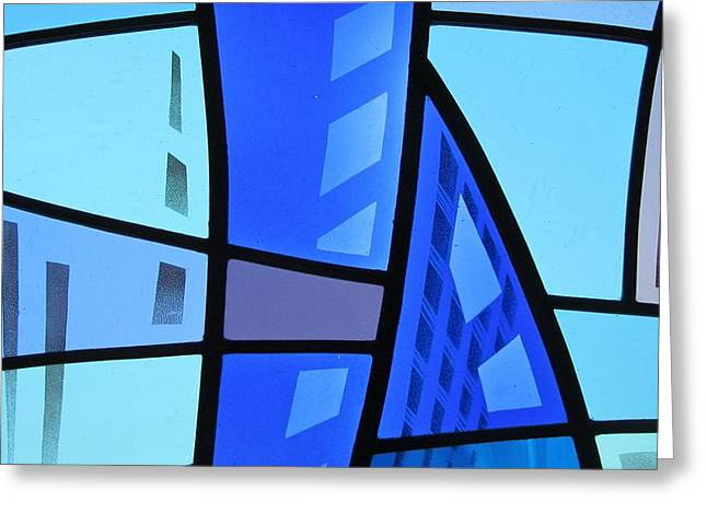 Vancouver Glass Art Greeting Cards - Coal Harbour Triptych Part 1 Greeting Card by Gilroy Stained Glass