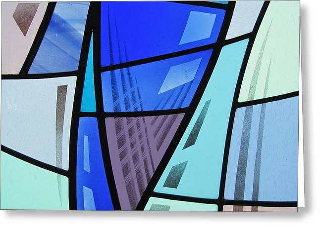 Bold Glass Greeting Cards - Coal Harbour Triptych Part 2 Greeting Card by Gilroy Stained Glass