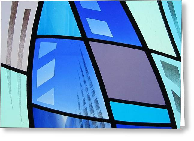 Bold Glass Greeting Cards - Coal Harbour Triptych Part 3 Greeting Card by Gilroy Stained Glass
