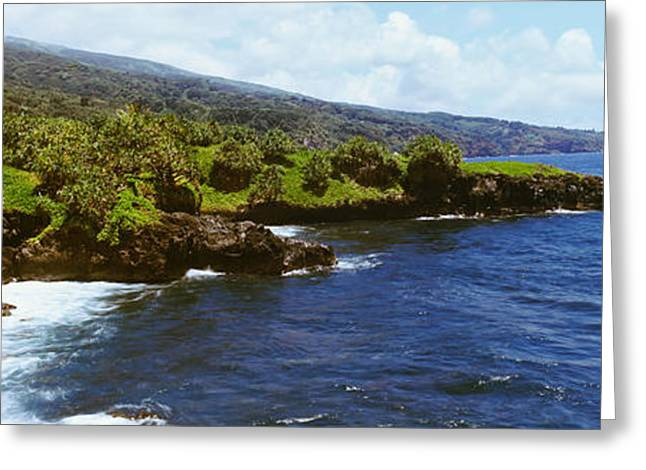 North Shore Greeting Cards - Coastline, Oahu, Hawaii, Usa Greeting Card by Panoramic Images
