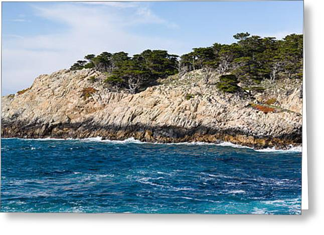 California Ocean Photography Greeting Cards - Coastline, Point Lobos State Reserve Greeting Card by Panoramic Images