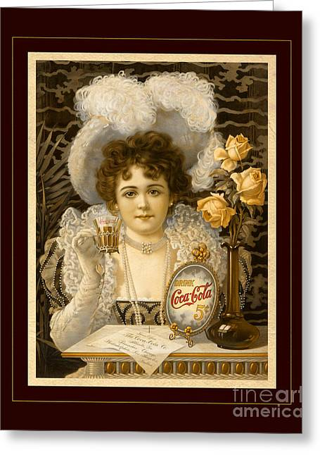 5 Cents Greeting Cards - Coca-Cola Vintage Retro Poster Greeting Card by John Stephens
