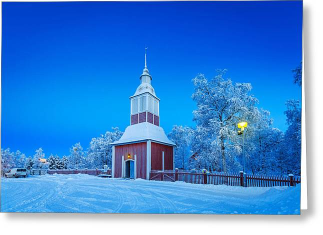 Temperature Greeting Cards - Cold Winter With Temperatures Going Greeting Card by Panoramic Images