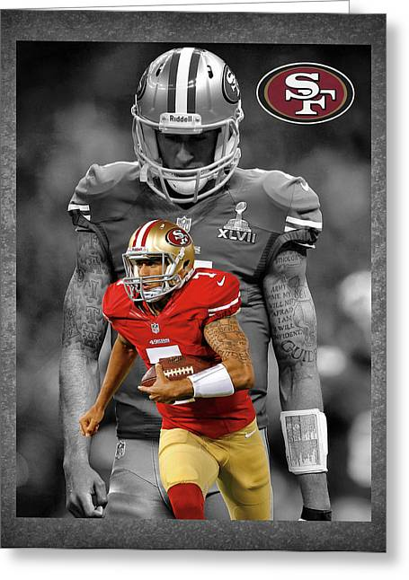 Offense Photographs Greeting Cards - Colin Kaepernick 49ers Greeting Card by Joe Hamilton