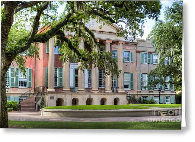 Hall Photographs Greeting Cards - College of Charleston Randolph Hall Greeting Card by Dustin K Ryan