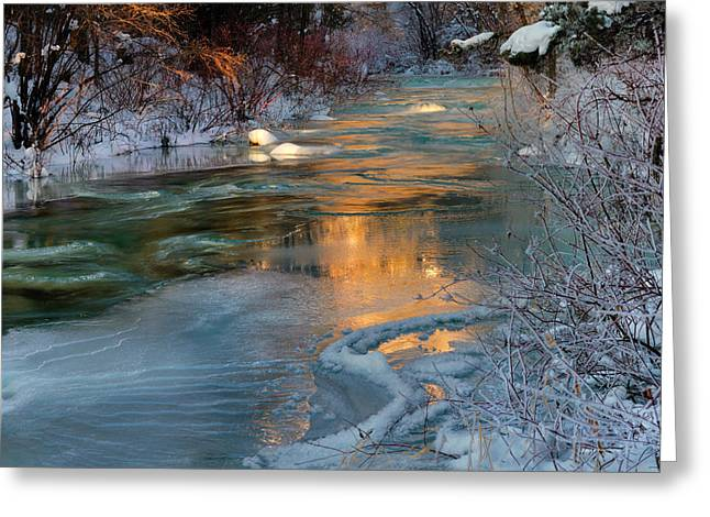 Pouring Greeting Cards - Color of Winter Greeting Card by Leland D Howard