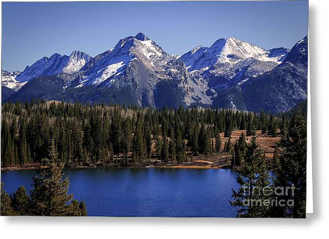 Mountain Reflection Lake Summit Mirror Greeting Cards - Colorado Blues Greeting Card by Janice Rae Pariza