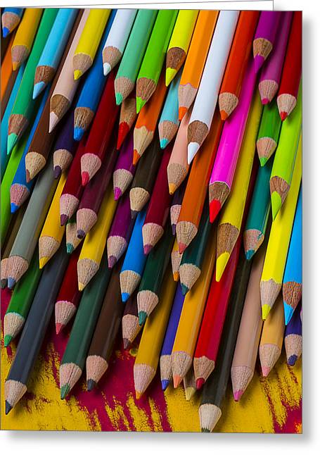 Color Pencil Greeting Cards - Colored pencils  Greeting Card by Garry Gay