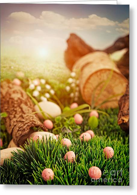 Colorful Easter  Greeting Card by Mythja  Photography
