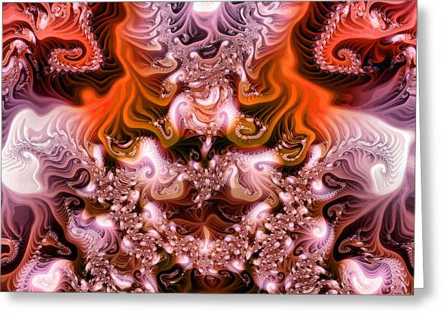 Hallucination Greeting Cards - Colorful fractal paint Greeting Card by Odon Czintos